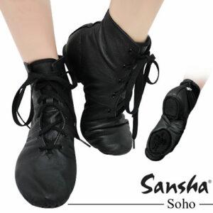 Stivaletto-Jazz-Pelle-Sansha-Soho-Scarpa-Danza-Moderna